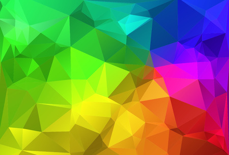 Polygon triangle abstract background colorful rainbow colors photo