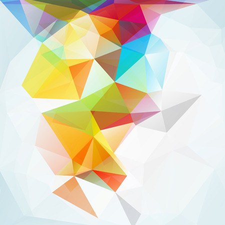 colour: Abstract polygon triangle background for design illustration Stock Photo