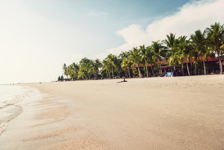 tropical beach at Langkawi island, Malaysia photo