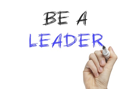 trailblazer: Hand writing be a leader on a white board