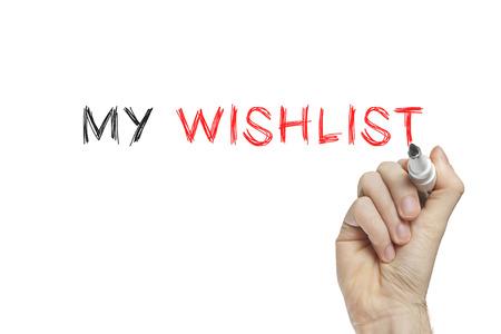 wishlist: Hand writing my wishlist on a white board