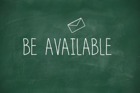 Be available handwritten on school blackboard photo