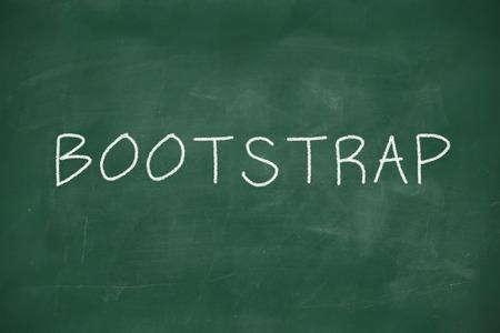 frontend: Bootstrap handwritten on school blackboard Stock Photo