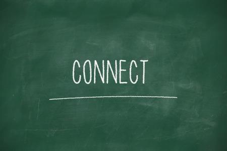 Connect handwritten on school blackboard photo