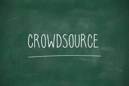 crowdsource: Crowdsource handwritten on school blackboard
