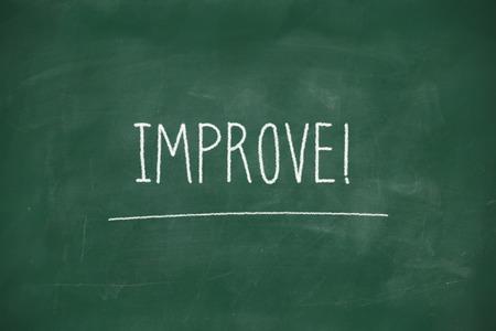 Improve handwritten on school blackboard photo