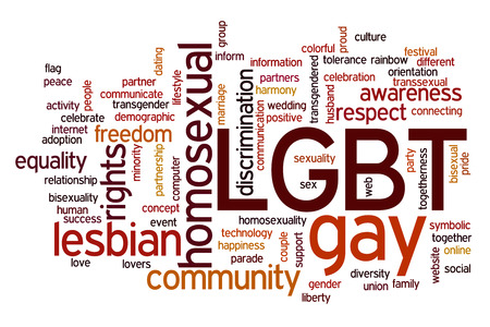 LGBT concept word cloud background photo