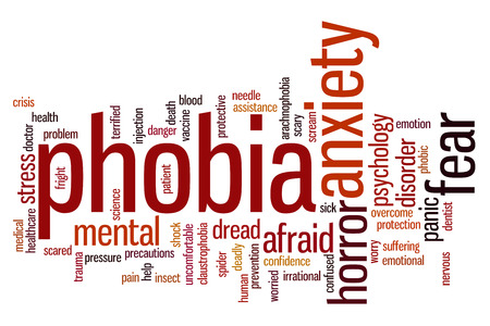 preventing: Phobia concept word cloud background Stock Photo