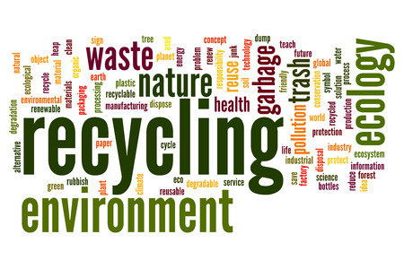 Recycling concept word cloud background photo