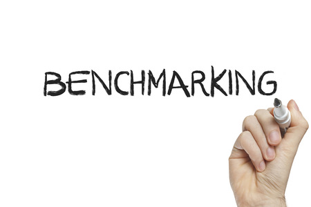 benchmarking: Hand writing benchmarking on a white board