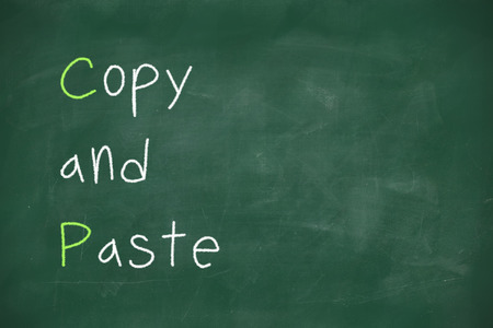 plagiarism: Copy and paste handwritten on school blackboard