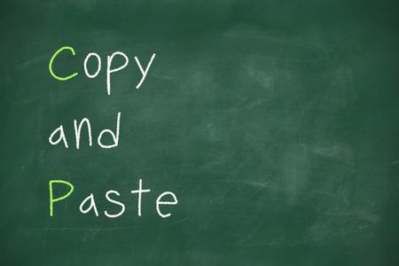 Copy and paste handwritten on school blackboard photo
