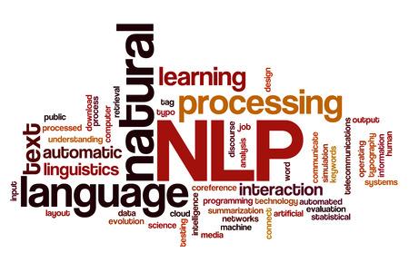 자연 언어 처리 개념 단어 구름 배경