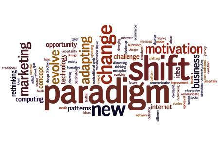paradigma: El concepto de fondo Cambio de paradigma nube de palabras