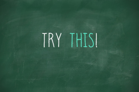 Try this handwritten on school blackboard photo