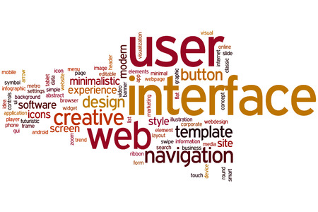 User interface concept word cloud background photo