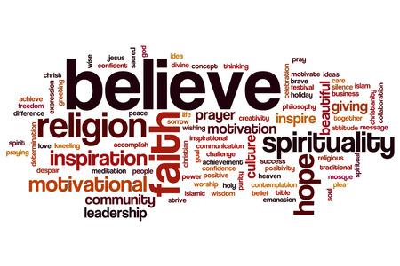 Believe concept word cloud background photo