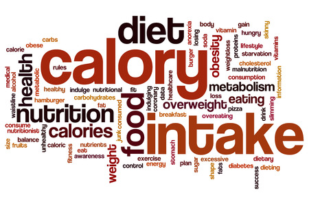 calory: Calory intake concept word cloud background