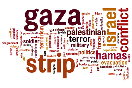 incursion: Gaza strip concept word cloud background Stock Photo