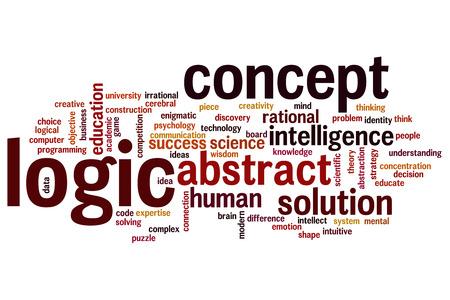 logic: L�gica concepto de nube de palabras de fondo