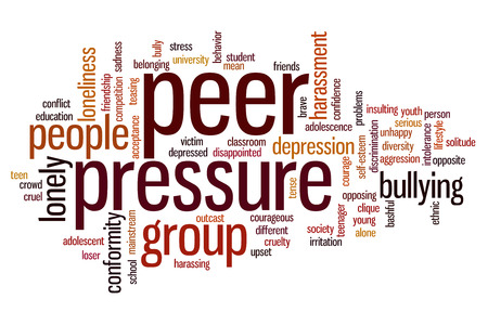 Peer pressure concept word cloud background