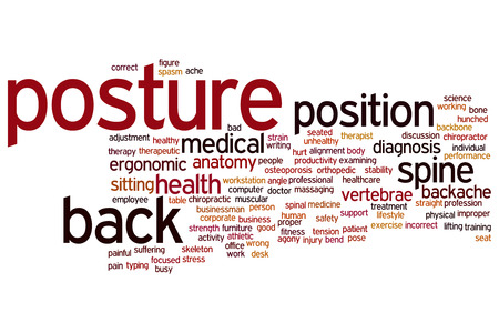 Posture concept word cloud background Stock Photo