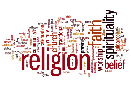 Religion concept word cloud background photo