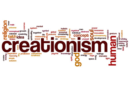 creationism: Creationism concept word cloud background