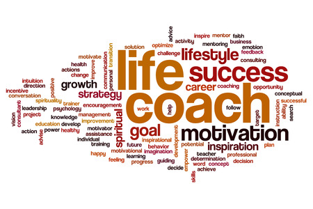 life change: Life coach concept word cloud background