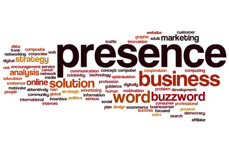 Presence concept word cloud background Stock Photo