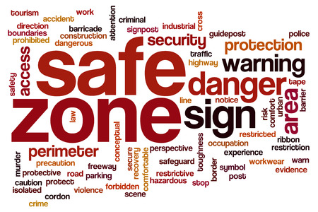 Safe zone concept word cloud background photo