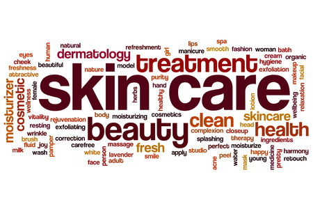 beauty skin: Skin care concept word cloud background