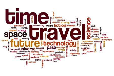 Time travel concept word cloud background photo