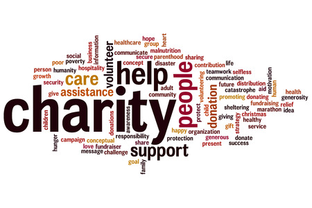 Charity concept word cloud background photo