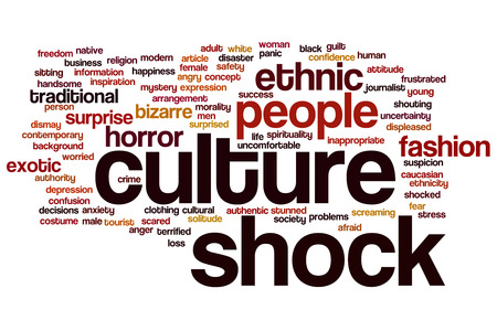 Culture shock concept word cloud background Фото со стока
