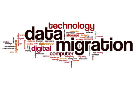 Data migration concept word cloud background