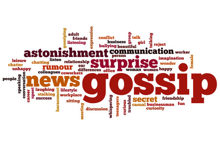Gossip concept word cloud background photo
