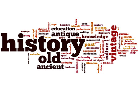 History concept word cloud background photo