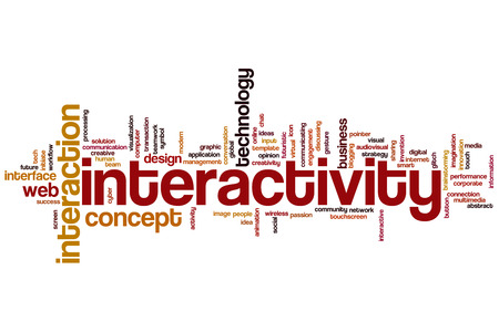 interactivity: Interactivity concept word cloud background