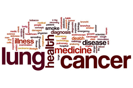 Lung cancer concept word cloud background photo