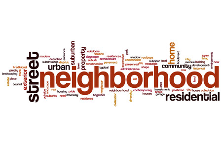 Neighborhood concept word cloud background