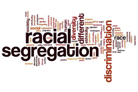 Racial segregation concept word cloud background photo