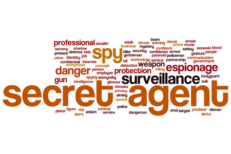 Secret agent concept word cloud background photo