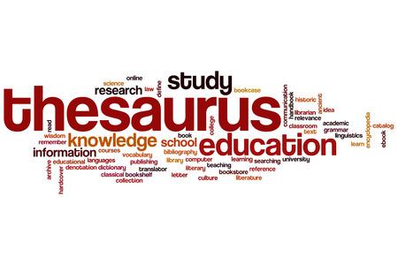 thesaurus: Thesaurus concept word cloud background