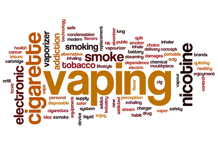 Vaping concept word cloud background photo