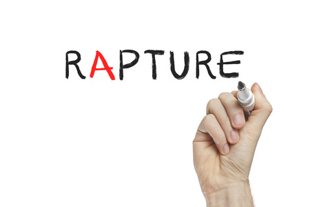 rapture: Hand writing rapture on a white board