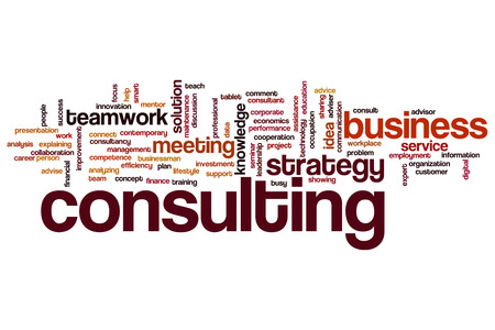 Consulting concept word cloud background