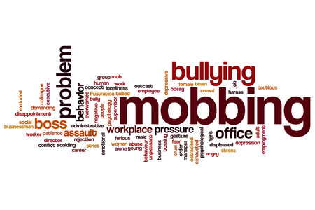 Mobbing concept word cloud background photo