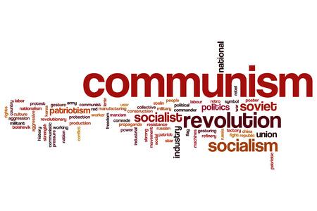 Communism concept word cloud background photo