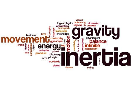 Inertia concept word cloud background